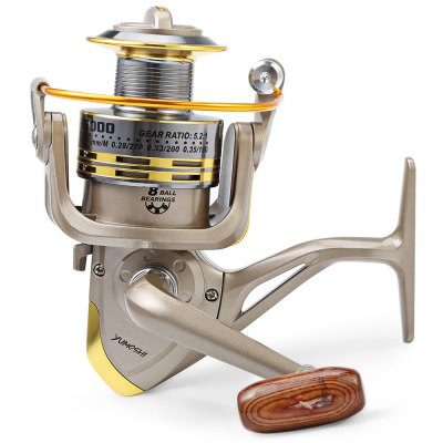 GS - 6000 12 Ball Bearings Spinning Fishing Reel 5.2 : 1