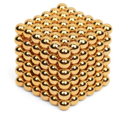 5mm Golden Magnetic Ball 216Pcs / Set