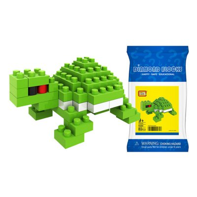 LOZ 9284 Turtle Diamond Building Block 80Pcs Educational Toy