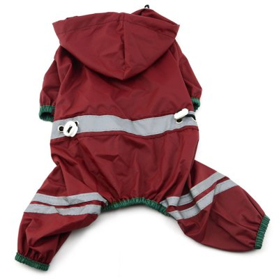 Puppy Dog Raincoat Water Resistant Reflective Tape Jumpsuit Clothes