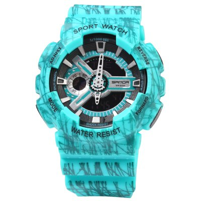 Sanda 299 World Time Multifunctional LED Sports Watch for MenSports Watches<br>Sanda 299 World Time Multifunctional LED Sports Watch for Men<br><br>Brand: Sanda<br>People: Male table<br>Watch style: LED,Outdoor Sports<br>Available color: Black,Gray,Green,Purple,Red<br>Movement type: Digital watch<br>Shape of the dial: Round<br>Display type: Digital<br>Hour formats: 12/24 Hour<br>Case material: PC<br>Band material: Rubber<br>Clasp type: Pin buckle<br>Special features: Alarm Clock,Date,Day,EL Back-light,GMT,Stopwatch<br>Water resistance : 30 meters<br>Dial size: 4.0 x 4.0 x 1.7 cm / 1.57 x 1.57 x 0.67 inches<br>Band size: 26.0 x 2.2 cm / 10.24 x 0.87 inches<br>Wearable length: 17 - 24 cm / 6.69 - 9.45 inches<br>Product weight: 0.051 kg<br>Package weight: 0.081 kg<br>Product size (L x W x H): 26.00 x 5.50 x 1.70 cm / 10.24 x 2.17 x 0.67 inches<br>Package size (L x W x H): 27.00 x 6.50 x 2.70 cm / 10.63 x 2.56 x 1.06 inches<br>Package Contents: 1 x Sanda 299 Watch, 1 x Chinese and English Manual