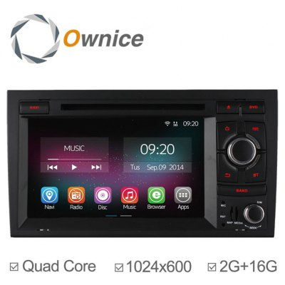 Ownice C200-OL-7967B Android 4.4.2 7.0 inch Car GPS DVD Multi-Media Player for A4 S4 RS4