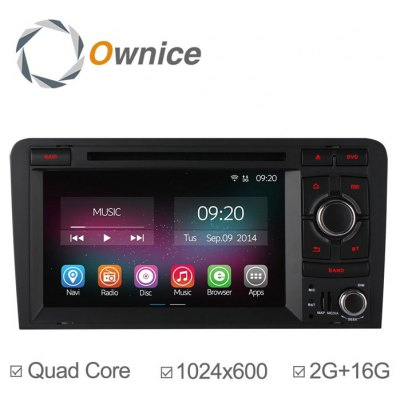Ownice C200-OL-7966B Android 4.4.2 7.0 inch Car GPS DVD Multi-Media Player for Audi A3 S3