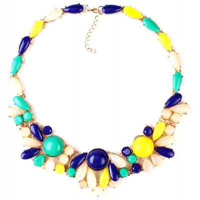 WQ014 Colorful Diamond Decoration Necklace for Ladies