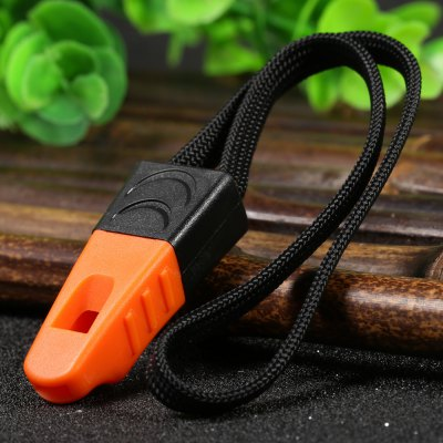 Ganzo Plastic Whistle with Lanyard for Outdoor Camping