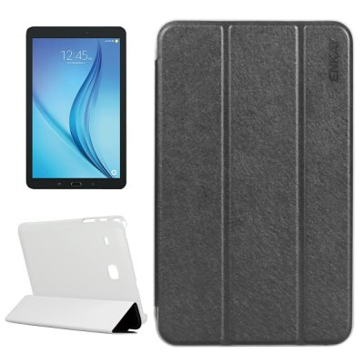 ENKAY Silk Grain PU Leather Cover Case with Stand Function for 8 inch Samsung Galaxy Tab E T377 / T375