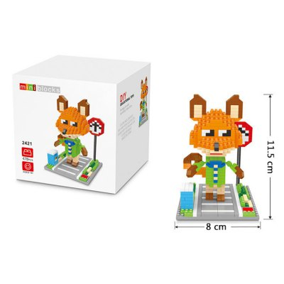 2421 Mini Building Block 478Pcs Fox Style Educational Kid Toy