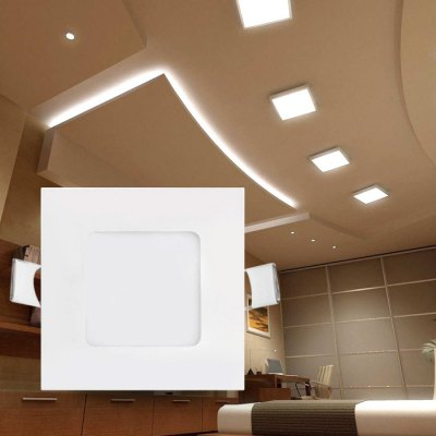 12W 60 x SMD 2835 860Lm Square LED Ceiling Panel Light