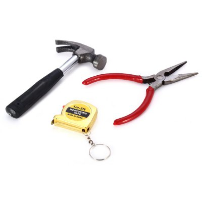 CF-5889 3 in 1 Nose Pliers Hammer Tape Kit