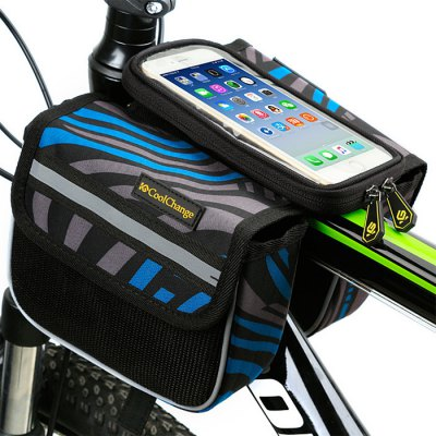 CoolChange 5.7 inches Bicycle Front Tube Bag