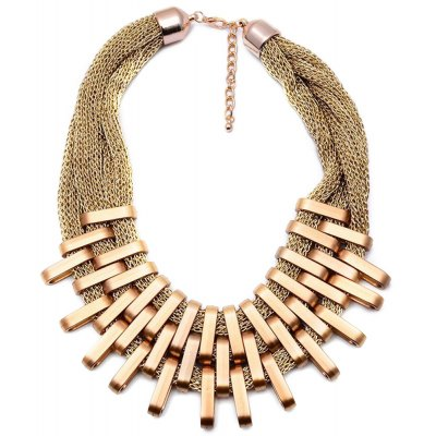WQ030 Charming Twisted Gold Plated Alloy Necklace