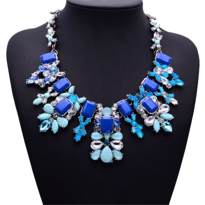 WQ019 Colorful Rhinestone Pendant Women NecklaceNecklaces &amp; Pendants<br>WQ019 Colorful Rhinestone Pendant Women Necklace<br><br>Occasions: Casual,Party,Performance,Personalized Photo<br>Style: Fashion<br>Fabric: Alloy,Crystal<br>Jewelry Silhouette: Pendant<br>Color: Blue,White<br>Product weight: 0.150 kg<br>Package weight: 0.180 kg<br>Product size (L x W x H): 18.50 x 5.50 x 1.00 cm / 7.28 x 2.17 x 0.39 inches<br>Package size (L x W x H): 19.50 x 6.50 x 2.00 cm / 7.68 x 2.56 x 0.79 inches<br>Package Contents: 1 x Necklace