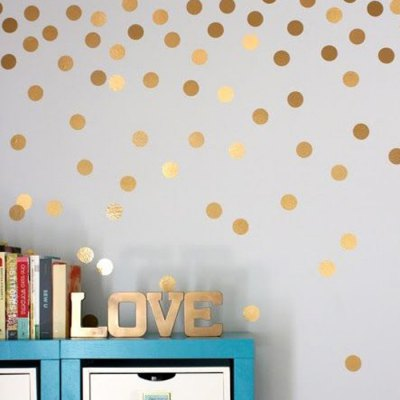 PVC 52PCS Dot Shape Wall Decals Removable Water Resistant Wallpaper