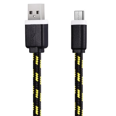 1M Type C Sync Data CableChargers &amp; Cables<br>1M Type C Sync Data Cable<br><br>Color: Black,Blue,Green,Orange,Purple,Red,White,Yellow<br>Interface Type: USB 2.0, USB Type-C<br>Package Contents: 1 x 1M Colorful Nylon Braided Type C Data Transfer Sync Cable<br>Package size (L x W x H): 9.00 x 4.00 x 1.00 cm / 3.54 x 1.57 x 0.39 inches<br>Package weight: 0.0410 kg<br>Product weight: 0.0210 kg<br>Type: Cable