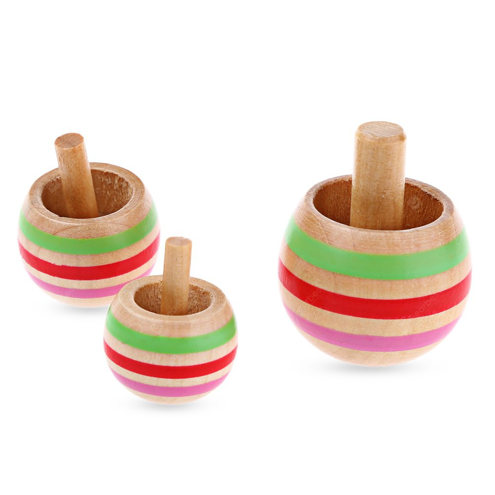 Wooden Spinning Top COLORMIX