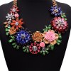WQ016 Luxury Crystal Flower Design Necklace for Women for sale