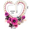 cheap WQ022 Luxury Rhinestone Flower Design Necklace for Ladies