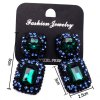 best WQ037 1 Pair Rhinestone Jewel Ear Studs Ladies Earrings