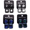 WQ037 1 Pair Rhinestone Jewel Ear Studs Ladies Earrings photo