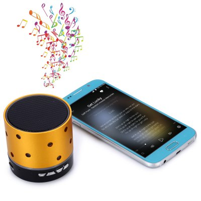 S61U Mini Flashing Light Wireless Bluetooth 4.0 Loud Speaker Built - in Lithium Battery for iPhone 6 / 6 Plus 5S 5C 5 4S 4
