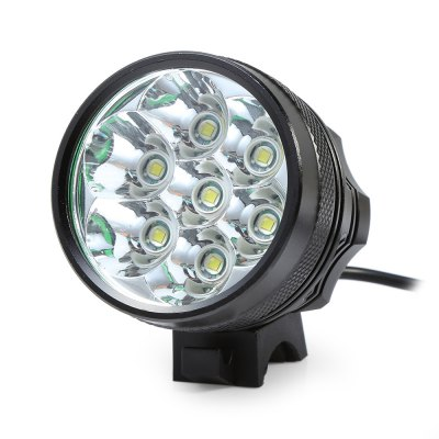 Marsing 8.4V 3 Modes 7 LED Cree XML T6 Bicycle LightHeadlights<br>Marsing 8.4V 3 Modes 7 LED Cree XML T6 Bicycle Light<br><br>Material: Aluminum Alloy<br>Color: Black<br>Suitable for: Fixed Gear Bicycle,Mountain Bicycle,Road Bike,Touring Bicycle<br>Type: Front Light<br>Features: Easy to Install,Superbright<br>Luminance: 2000 - 2200 lumens<br>LED Quantity: 7<br>Working Time: 4 - 5 hours<br>Product weight: 0.470 kg<br>Packge Weight: 0.600 kg<br>Product Dimension: 5.60 x 5.50 x 5.50 cm / 2.20 x 2.17 x 2.17 inches<br>Package Dimension: 20.00 x 18.00 x 6.00 cm / 7.87 x 7.09 x 2.36 inches<br>Package Contents: 1 x Bicycle Lamp Head, 1 x Battery Set, 1 x Battery Pouch, 2 x Lamp Belt, 2 x O-ring, 1 x Charger Adapter