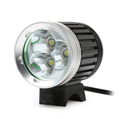 Marsing 8.4V 4 Modes 3 LED Cree XML T6 Bicycle LightHeadlights<br>Marsing 8.4V 4 Modes 3 LED Cree XML T6 Bicycle Light<br><br>Material: Aluminum Alloy<br>Color: Black<br>Suitable for: Cross-Country Cycling,Fixed Gear Bicycle,Mountain Bicycle,Road Bike,Touring Bicycle<br>Type: Front Light<br>Placement: Handlebar<br>Features: Easy to Install,Superbright<br>Luminance: 1200 - 1400 lumens<br>LED Quantity: 3<br>Working Time: 4 - 5 hours<br>Product weight: 0.400 kg<br>Packge Weight: 0.520 kg<br>Product Dimension: 5.60 x 3.80 x 3.80 cm / 2.2 x 1.5 x 1.5 inches<br>Package Dimension: 20.00 x 18.00 x 6.00 cm / 7.87 x 7.09 x 2.36 inches<br>Package Contents: 1 x Bicycle Lamp Head, 1 x Battery Set, 1 x Battery Pouch, 2 x Lamp Belt, 2 x O-ring, 1 x Charger Adapter
