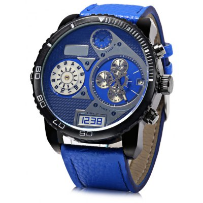 JUBAOLI 1103 Date Function Men Quartz Watch Rotatable Bezel