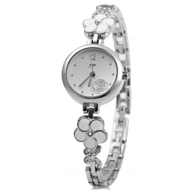 JW 8090L Rose Decoration Women Quartz Watch Alloy Band