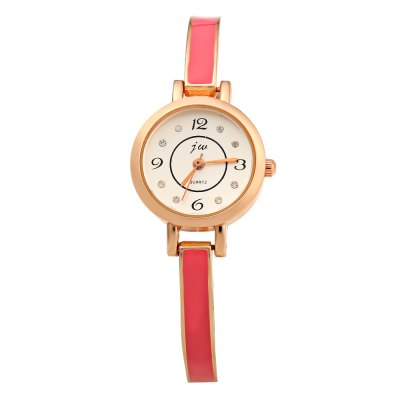 JW 8072 Round Dial Diamond Ladies Quartz Watch Alloy BandWomens Watches<br>JW 8072 Round Dial Diamond Ladies Quartz Watch Alloy Band<br><br>Brand: Jw<br>Watches categories: Female table<br>Watch style: Fashion<br>Available color: Black,Red,White<br>Movement type: Quartz watch<br>Shape of the dial: Round<br>Display type: Analog<br>Case material: Alloy<br>Band material: Alloys<br>Clasp type: Sheet folding clasp<br>Dial size: 2.0 x 2.0 x 0.8 cm / 0.79 x 0.79 x 0.31 inches<br>Band size: 19.0 x 0.6 cm / 7.48 x 0.24 inches<br>Wearable length: 18.5 cm / 7.28 inches<br>Product weight: 0.023 kg<br>Package weight: 0.053 kg<br>Product size (L x W x H): 19.00 x 2.10 x 0.80 cm / 7.48 x 0.83 x 0.31 inches<br>Package size (L x W x H): 20.00 x 3.10 x 1.80 cm / 7.87 x 1.22 x 0.71 inches<br>Package Contents: 1 x JW Female Watch
