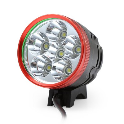 Marsing 8.4V 3 Modes 6 LED Cree XML T6 Bicycle LightHeadlights<br>Marsing 8.4V 3 Modes 6 LED Cree XML T6 Bicycle Light<br><br>Material: Aluminum Alloy<br>Color: Black<br>Suitable for: Cross-Country Cycling,Fixed Gear Bicycle,Mountain Bicycle,Road Bike,Touring Bicycle<br>Type: Front Light<br>Placement: Handlebar<br>Features: Easy to Install,Superbright<br>Luminance: 1800 - 2000 lumens<br>LED Quantity: 6<br>Working Time: 4 - 5 hours<br>Product weight: 0.460 kg<br>Packge Weight: 0.580 kg<br>Product Dimension: 5.60 x 5.50 x 5.50 cm / 2.2 x 2.17 x 2.17 inches<br>Package Dimension: 20.00 x 18.00 x 6.00 cm / 7.87 x 7.09 x 2.36 inches<br>Package Contents: 1 x Bicycle Lamp Head, 1 x Battery Set, 1 x Battery Pouch, 2 x Lamp Belt, 2 x O-ring, 1 x Charger Adapter