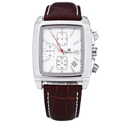 MEGIR M2028 Male Quartz WatchMens Watches<br>MEGIR M2028 Male Quartz Watch<br><br>Brand: MEGIR<br>Watches categories: Male table<br>Movement type: Quartz watch<br>Shape of the dial: Rectangle<br>Display type: Analog<br>Case material: Stainless Steel<br>Band material: Leather<br>Clasp type: Pin buckle<br>Water resistance : 30 meters<br>The dial thickness: 10 mm<br>The dial diameter: 37 mm<br>The band width: 22 mm<br>Wearable length: 195 mm - 238 mm<br>Product weight: 0.068 kg<br>Package weight: 0.090 kg<br>Product size (L x W x H): 26.50 x 4.00 x 1.00 cm / 10.43 x 1.57 x 0.39 inches<br>Package size (L x W x H): 27.50 x 5.00 x 2.00 cm / 10.83 x 1.97 x 0.79 inches<br>Package Contents: 1 ? MEGIR M2028 Male Quartz Watch