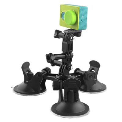 CP-GP404 Strong Suction Cup TripodAction Cameras &amp; Sport DV Accessories<br>CP-GP404 Strong Suction Cup Tripod<br><br>Accessory type: Bracket<br>Apply to Brand: Amkov,Dazzne,Eken,FIREFLY,GitUp,Gopro,MEEEGOU,Mobius,Polaroid,SJCAM,Soocoo,Xiaomi<br>Compatible with: GoPro Hero Series, Isaw, MEE+5, Mobius Action Sports Camera, Polaroid Cube, SJ4000, SJ4000 Plus, SJ4000 WiFi, SJ5000, SJ6000, SJ7000, SJCAM 4000 plus, SJCAM 5000 plus, SJCAM M10, SJCAM M10 Plus, GoPro Hero 4 Session, Gopro Hero 4, A9, Action Camera, AMK 5000, AMK 5000S, Dazzne P2, Dazzne P3, Discovery DS200, EKEN H9, FIREFLY 5S, Gopro Hero 3 Plus, Gopro Hero 3, Gopro Hero 2, Gopro Hero 1, Gitup Git2, GitUp Git1, FIREFLY 6S<br>Material: Alluminum Alloy, Plastic<br>Package Contents: 1 x Triple Suction Cup Bracket, 3 x Screw, 1 x Long Connector, 1 x Short Connector, 1 x 1/4 Adapter<br>Package size (L x W x H): 23.00 x 23.00 x 10.00 cm / 9.06 x 9.06 x 3.94 inches<br>Package weight: 0.250 kg<br>Product size (L x W x H): 18.50 x 18.50 x 5.70 cm / 7.28 x 7.28 x 2.24 inches<br>Product weight: 0.190 kg