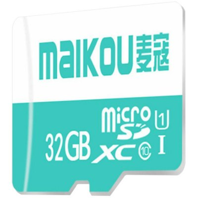 Maikou 32GB SDHC Micro SD CardMemory Cards<br>Maikou 32GB SDHC Micro SD Card<br><br>Brand: Maikou<br>Memory Capacity: 32G<br>Memory Card Type: Micro SD/TF<br>Package Contents: 1 x Maikou 32GB Micro SD Memory Card<br>Package size (L x W x H): 5.00 x 4.00 x 2.00 cm / 1.97 x 1.57 x 0.79 inches<br>Package weight: 0.040 kg<br>Product size (L x W x H): 1.50 x 1.10 x 0.35 cm / 0.59 x 0.43 x 0.14 inches<br>Product weight: 0.003 kg<br>Read Speed: 50-80MB/s<br>Type: Memory Card<br>Write Speed: 10-13MB/s