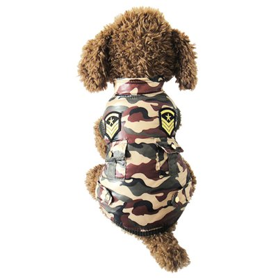 Pet Dog Camouflage Warm Jacket