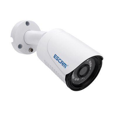 ESCAM QE07 IP Camera Night Vision 720P Motion DetectionIP Cameras<br>ESCAM QE07 IP Camera Night Vision 720P Motion Detection<br><br>Alarm Notice: Email Photo,FTP Photo<br>Brand: ESCAM<br>Color: White<br>Environment: Outdoor<br>Exterior Material: Plastic<br>Frame Rate (FPS): 25fps<br>Infrared Distance: 15m<br>Infrared LED: 18pcs microcrystalline array LED<br>IP camera performance: Night Vision, Motion Detection<br>Minimum Illumination: Color: 0. 2Lux, B / W: 0.08Lux<br>Mobile Access: Android,IOS,iPad<br>Model: QE07<br>Online Visitor (Max.): 4 vistors<br>Package Contents: 1 x IP Camera, 1 x Power Cord, 3 x Screw, 1 x Waterproof Cover, 1 x English User Manual<br>Package size (L x W x H): 20.00 x 5.50 x 8.50 cm / 7.87 x 2.17 x 3.35 inches<br>Package weight: 0.450 kg<br>Product size (L x W x H): 18.50 x 7.70 x 7.70 cm / 7.28 x 3.03 x 3.03 inches<br>Product weight: 0.360 kg<br>Protocol: DDNS,DHCP,DNS,HTTP,IP,NTP,PPPOE,RTCP,RTP,RTSP,SMTP,TCP,UDP,UPNP<br>Resolution: 1280 x 720<br>Sensor: CMOS<br>Sensor size (inch): 1/4<br>Shape: Bullet Camera<br>Technical Feature: Infrared<br>Video Compression Format: H.264<br>Waterproof: IP66
