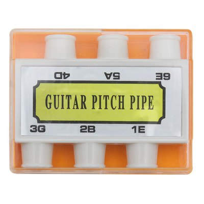 Pitch Pipe Portable Plastic Six Tone Tuner for Electric Acoustic Guitar Bass