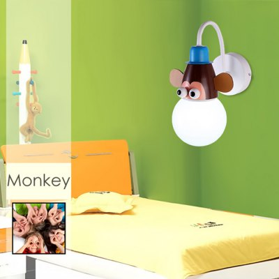 Cartoon Monkey LED Wall Light