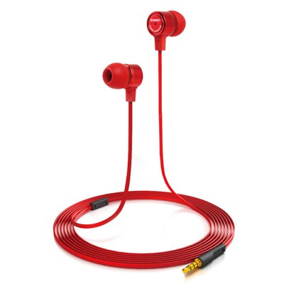 Somic MH403 Portable Super Bass Rich Sound Music In-ear Earphones Flat Cable