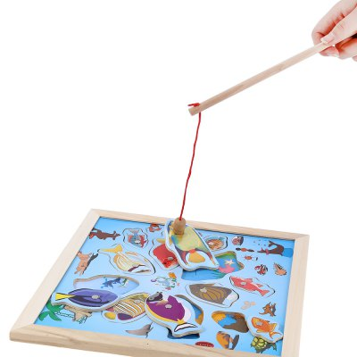Magnetic Wooden Fishing Board Puzzle