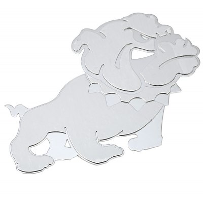 T17366 3D Stainless Steel Car Dog Sticker