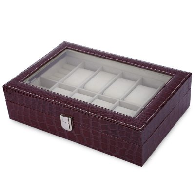 8 Grids with 4 Mixed Grids PU Leather Watch Case Box