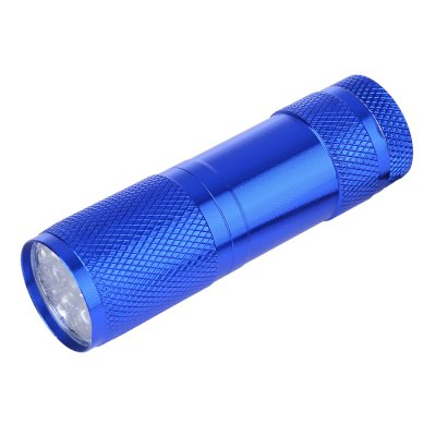 Portable Aluminum Alloy 9 LED UV Gel Curing Flashlight