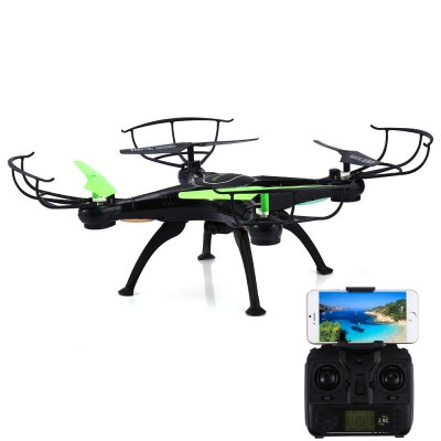 SKRC Q16 WiFi FPV 0.5 Mega Camera 2.4G / APP Control 4 Channel 6-axis Gyro Quadcopter RTFRC Quadcopters<br>SKRC Q16 WiFi FPV 0.5 Mega Camera 2.4G / APP Control 4 Channel 6-axis Gyro Quadcopter RTF<br><br>Age: Above 14 years old<br>Built-in Gyro: Yes<br>Channel: 4-Channels<br>Control Distance: 100-300m<br>Detailed Control Distance: 100-200m<br>Features: WiFi FPV<br>Flying Time: 10-15mins<br>Functions: One Key Automatic Return, 3D rollover, Camera, Forward/backward, FPV, WiFi Connection, Up/down, Turn left/right, Headless Mode, Sideward flight<br>Kit Types: RTF<br>Level: Advanced Level<br>Material: Plastic, Electronic Components<br>Mode: Mode 2 (Left Hand Throttle)<br>Model Power: 1 x Lithium battery(included)<br>Night Flight: Yes<br>Package Contents: 1 x Quadcopter, 1 x Transmitter, 1 x Camera, 1 x Phone Holder, 4 x Come-with Propeller, 4 x Propeller Protector, 1 x USB Cable, 1 x Screwdriver, 1 x Screw Set, 4 x Landing Gear, 1 x English Manual<br>Package size (L x W x H): 35.00 x 30.00 x 10.00 cm / 13.78 x 11.81 x 3.94 inches<br>Package weight: 0.6550 kg<br>Product size (L x W x H): 31.50 x 31.50 x 7.50 cm / 12.4 x 12.4 x 2.95 inches<br>Product weight: 0.1110 kg<br>Radio Mode: Mode 2 (Left-hand Throttle)<br>Remote Control: 2.4GHz Wireless Remote Control<br>Transmitter Power: 4 x 1.5V AA battery(not included)<br>Type: Quadcopter