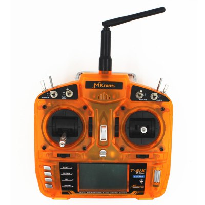 MKron T - SIX i6S 2.4G 6CH LCD Screen 2 Level Switch Transmitter Compatible with DSM2 Receiver