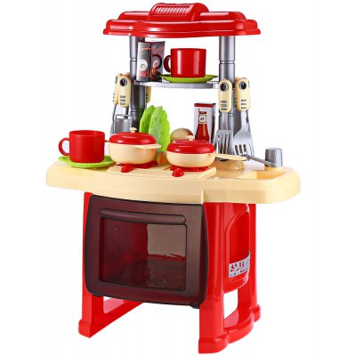 Kids Kitchen Cookware Toy with Light Sound Effect