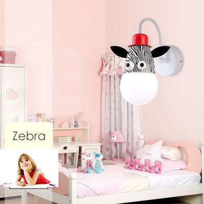 Cartoon Zebra LED Wall Light Kids Bedroom KindergartenBedroom lighting<br>Cartoon Zebra LED Wall Light Kids Bedroom Kindergarten<br><br>Bulb Included: Yes<br>CCT/Wavelength: 3000K,6000K<br>Input Voltage: AC 220V<br>LED Lifespan: 80000h<br>Luminous Flux: 1200LM<br>Optional Light Color: Warm White,White<br>Package Contents: 1 x Cartoon Wall Light<br>Package size (L x W x H): 20.30 x 20.30 x 19.00 cm / 7.99 x 7.99 x 7.48 inches<br>Package weight: 1.080 kg<br>Power Output: 18W<br>Product size (L x W x H): 19.30 x 19.30 x 16.00 cm / 7.60 x 7.60 x 6.30 inches<br>Product weight: 1.000 kg<br>Quantity of Spots: 1<br>Shade Material: Acrylic<br>Type: Wall Light