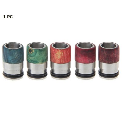 Stabilized Wood + 316 Stainless Steel Hybrid 510 Drip Tip