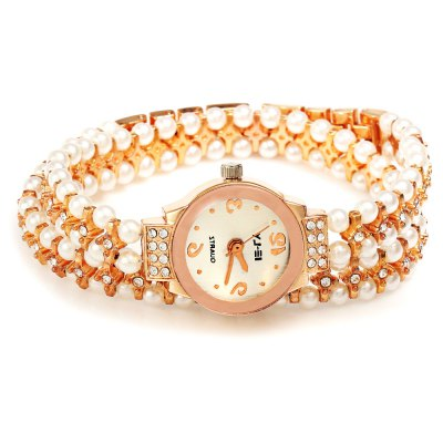 IE-LY 629 Women Pearl Diamond Quartz WatchWomens Watches<br>IE-LY 629 Women Pearl Diamond Quartz Watch<br><br>Brand: IE-LY<br>Watches categories: Female table<br>Watch style: Fashion<br>Available color: Rose Gold<br>Movement type: Quartz watch<br>Shape of the dial: Round<br>Display type: Analog<br>Case material: Stainless Steel<br>Band material: Pearl + Stainless steel<br>Clasp type: Sheet folding clasp<br>Dial size: 2.1 x 2.1 x 0.8 cm / 0.82 x 0.82 x 0.31 inches<br>Band size: 37 x 0.9 cm / 14.56 x 0.35 inches<br>Product weight: 0.034 kg<br>Package weight: 0.064 kg<br>Product size (L x W x H): 37.00 x 2.30 x 1.20 cm / 14.57 x 0.91 x 0.47 inches<br>Package size (L x W x H): 24.00 x 3.30 x 2.20 cm / 9.45 x 1.30 x 0.87 inches<br>Package Contents: 1 x Watch