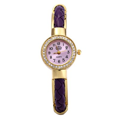 USS 1443 Women Quartz Bracelet Watch Diamond Leather Steel StrapWomens Watches<br>USS 1443 Women Quartz Bracelet Watch Diamond Leather Steel Strap<br><br>Brand: USS<br>Watches categories: Female table<br>Watch style: Bracelet Style<br>Available color: Blue,Deep Blue,Purple,Red,White<br>Movement type: Quartz watch<br>Shape of the dial: Round<br>Display type: Analog<br>Case material: Steel<br>Band material: Leather and steel<br>Clasp type: Magnetic Clasp<br>Dial size: 2.1 x 0.9 cm / 0.82 x 0.35 inches<br>Outer perimeter: 21 cm / 8.26 inches<br>Product weight: 0.042 kg<br>Package weight: 0.072 kg<br>Product size (L x W x H): 7.10 x 2.50 x 6.80 cm / 2.80 x 0.98 x 2.68 inches<br>Package size (L x W x H): 7.10 x 3.50 x 7.80 cm / 2.80 x 1.38 x 3.07 inches<br>Package Contents: 1 x Watch