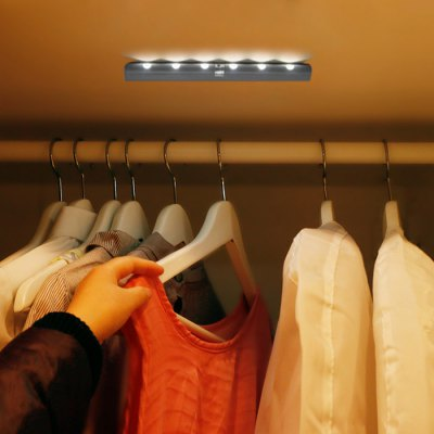 PIR LED Stairs Light Battery Operated Indoor Stairway Cabinet Lighting